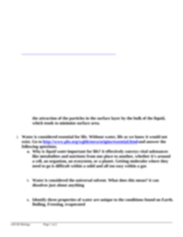 WaterPropertiesWebquest (1)-1.docx - PROPERTIES OF WATER ...