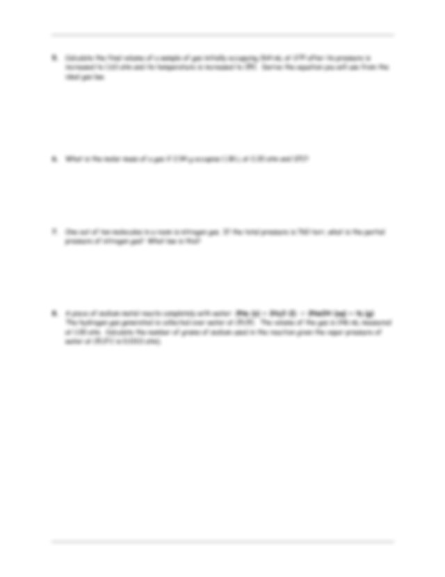 Gas Laws and Thermochemistry Worksheet - GAS LAWS ...