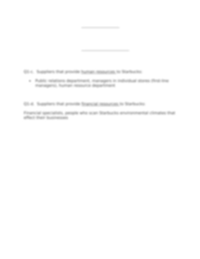 Chapter 3 Assignment.docx - Q1-a Suppliers that provide ...