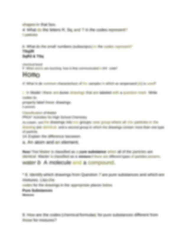 POGIL_Classification_of_Matter - Classification of Matter ...