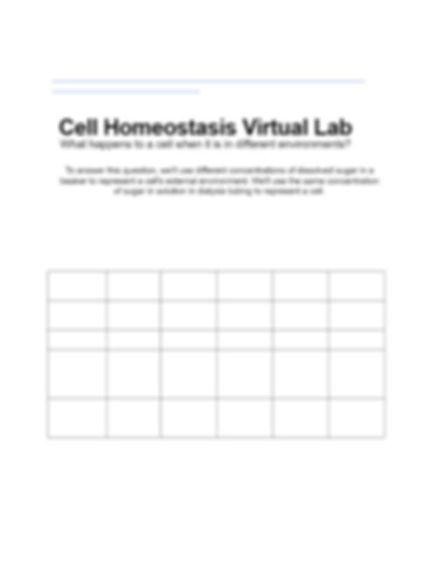 Virtual Osmosis Lab Worksheet.docx - Cell Homeostasis ...