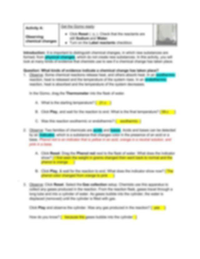 Chemical Changes Virtual Lab.pdf - Student Exploration ...