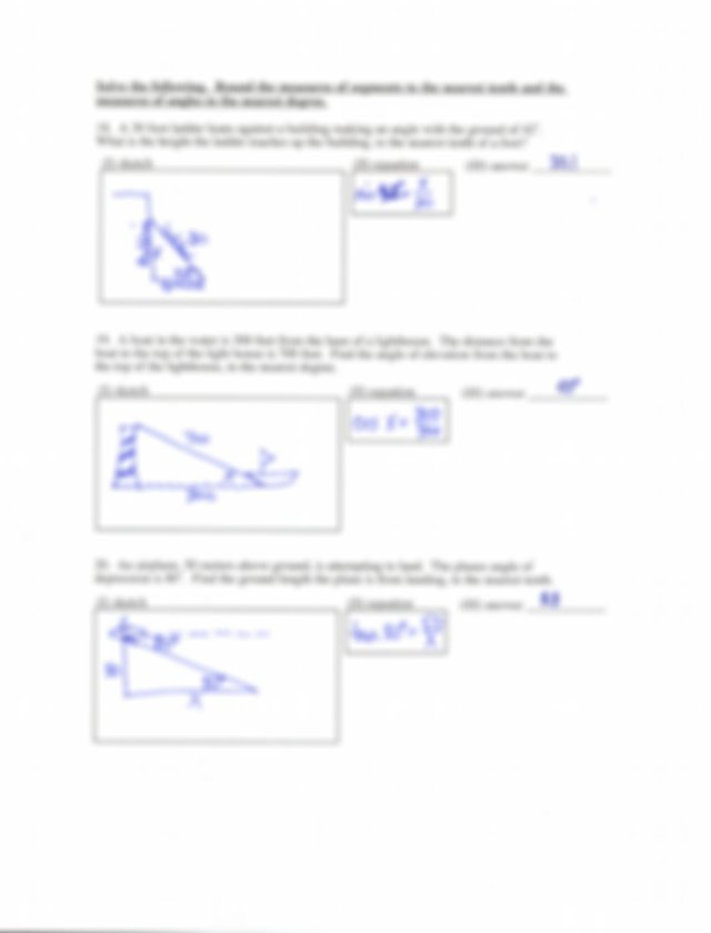 trig 7 - Chapter 7 Right Triangles name l'39 Lesson 7-4 ...