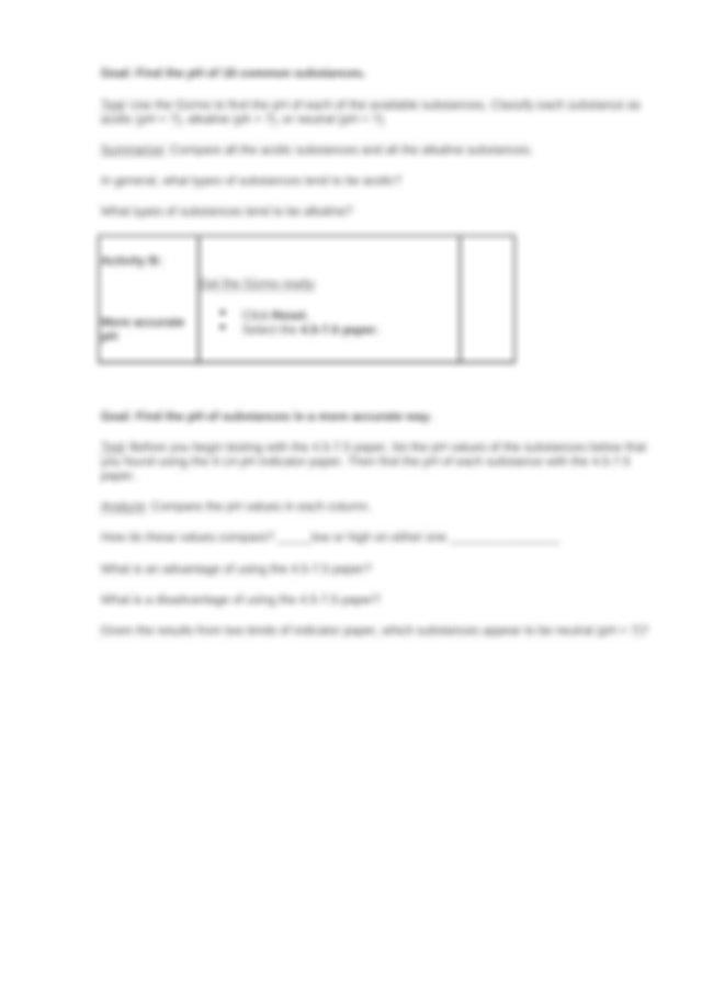 Student Exploration- pH Analysis- Quad Color Indicator ...