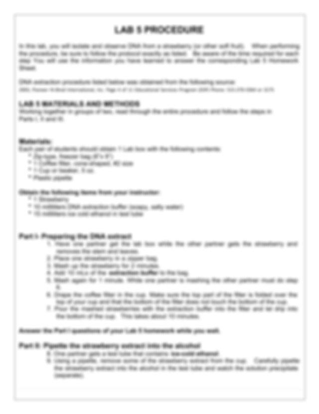 BIOL&100_Module 3-Lab 5 Document - Strawberry DNA ...