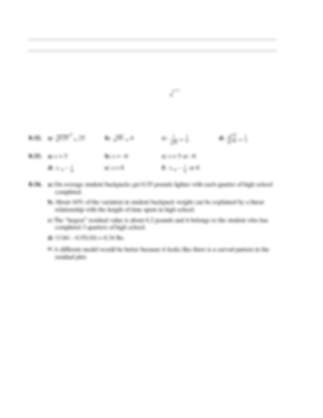 CPM Algebra 1 HW Solutions CH 8 - Selected Answers for ...