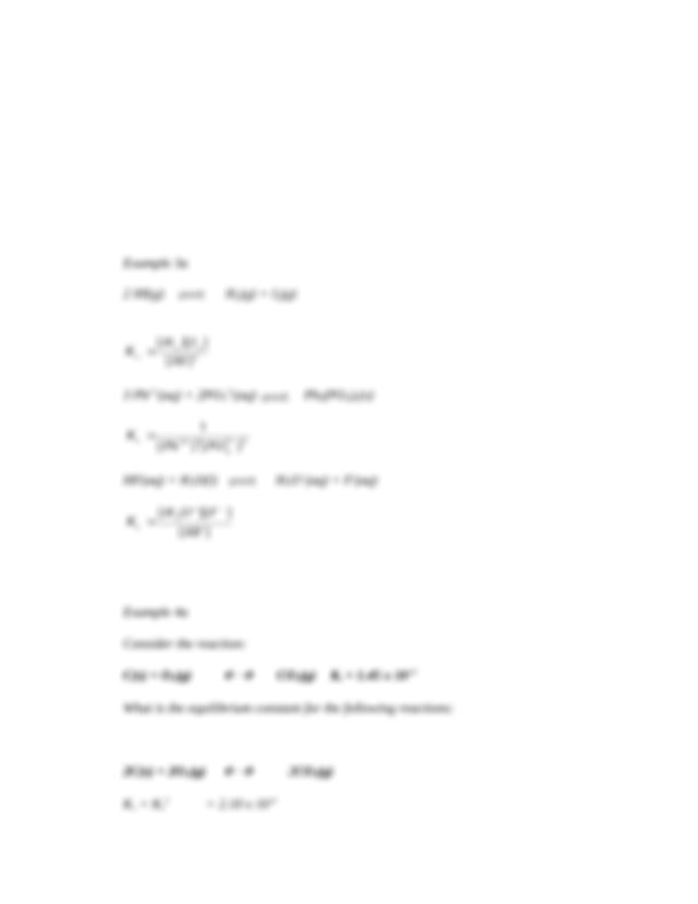 Chapter 13 Review Sheet Answer Key - Chapter 13 Chemical ...