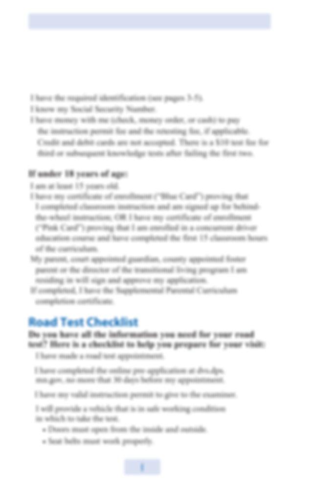 Minnesota Drivers Manual Pdf