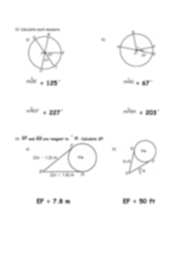 Quiz 11-1 To 11-3 WKST 2014 Answer Key - Geometry Chapter ...