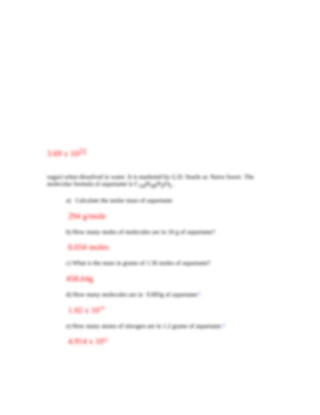 AP Chem - Mole Conversions WS-2.doc - Mole Conversions