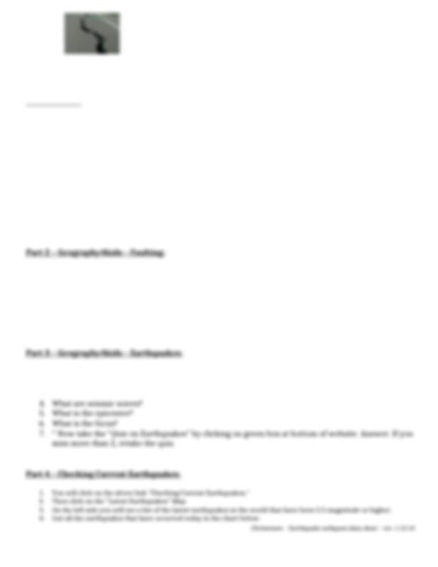 earthquake webquest data sheet (1) - Name Per Earthquake ...