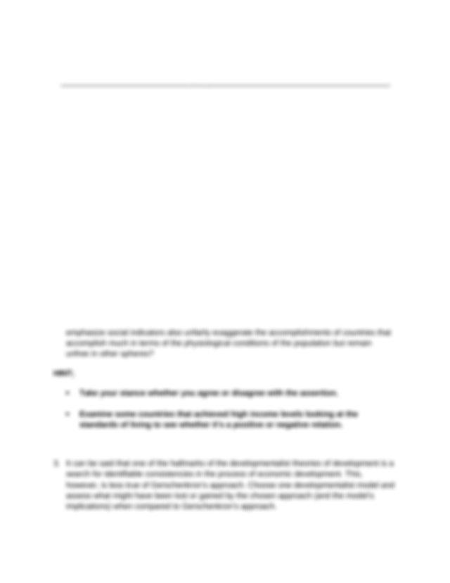 EVALUATION QUESTIONS ON Advanced Development Economics ...
