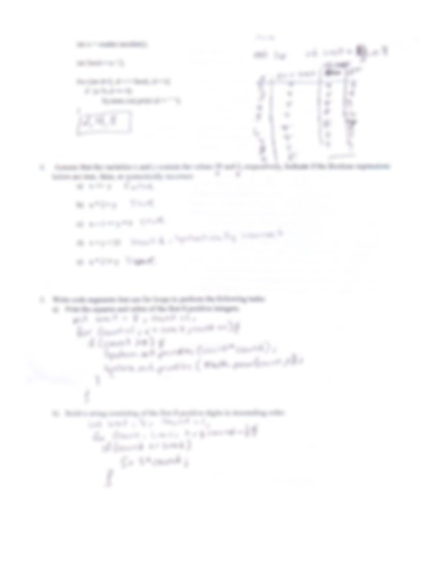 ap computer science midterm review key - | Course Hero