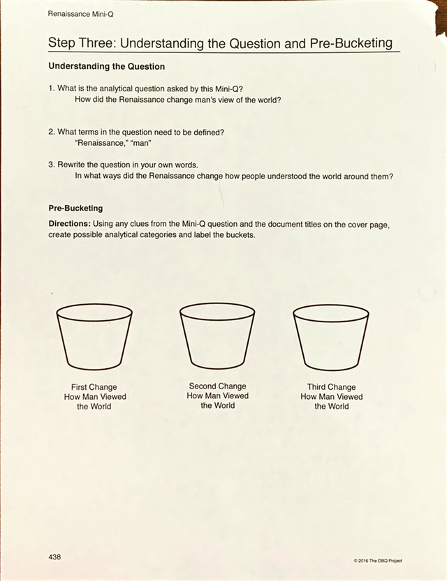 Renaissance pre bucketing.docx - Renaissance Mini-Q Step ...