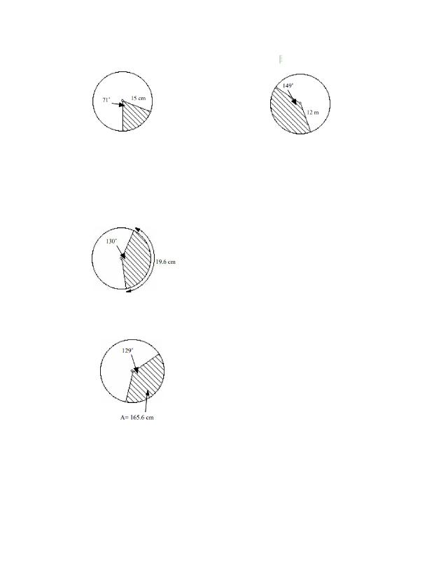Arc Length & Sector Area Practice #2.pdf - Arc Length ...