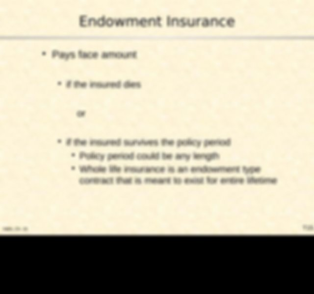 Class 22 lecture Notes on Life Insurance (Part I).pptx ...