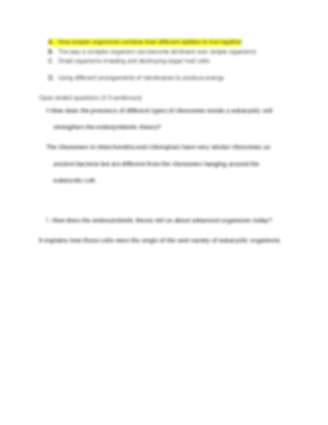 Copy of Endosymbiosis Video Questions.docx - 1 ...