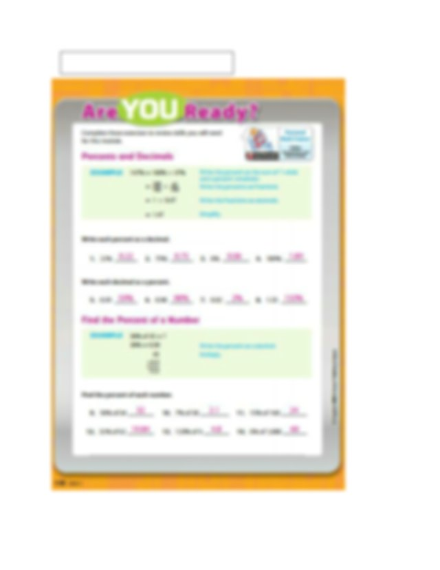 Module 5 Review with Answers.pdf - 5.1 Percent Increase ...