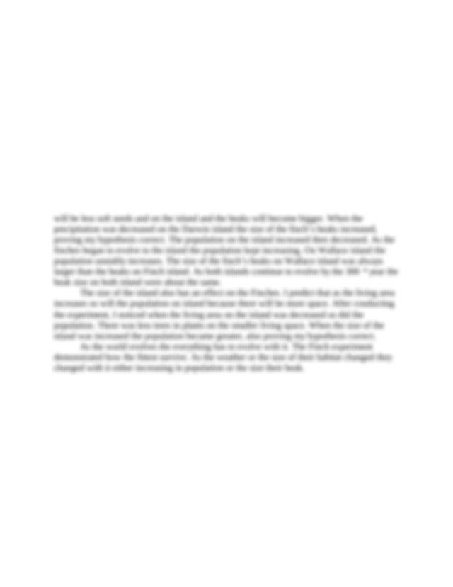 Finch Lab Report .docx - Kymarrah Joseph Finch Lab Report ...