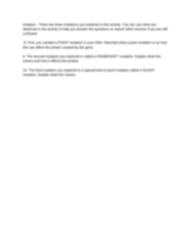 DNA_mutation - DNA Mutation Simulation Access the ...