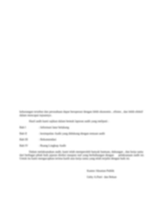 Laporan Audit Manajemen Bab 3 Docx Laporan Audit Manajemen Medan 01 Juli 2007 No 025 Kap Vii 2007 Lampiran 2 Eksemplar Perihal Laporan Hasil Audit Course Hero