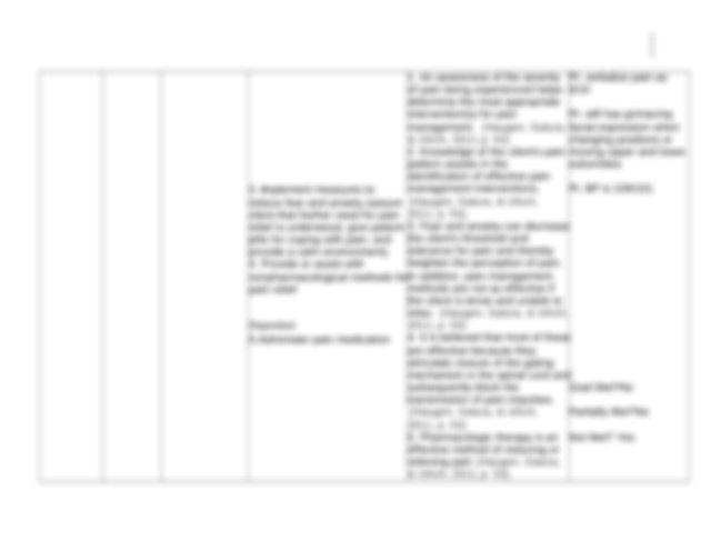 chronic pain-ncp - Patient 1 Nursing care plan for chronic ...