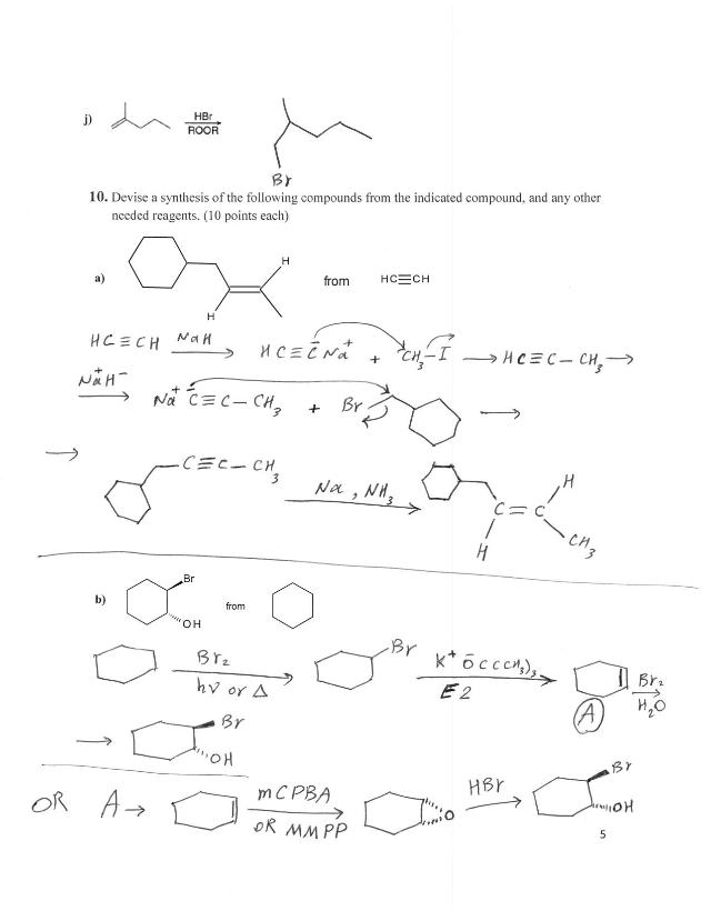 CHEM 2301-Practice Final Exam-Answer Key - \ufb02nSM\/W bf ...