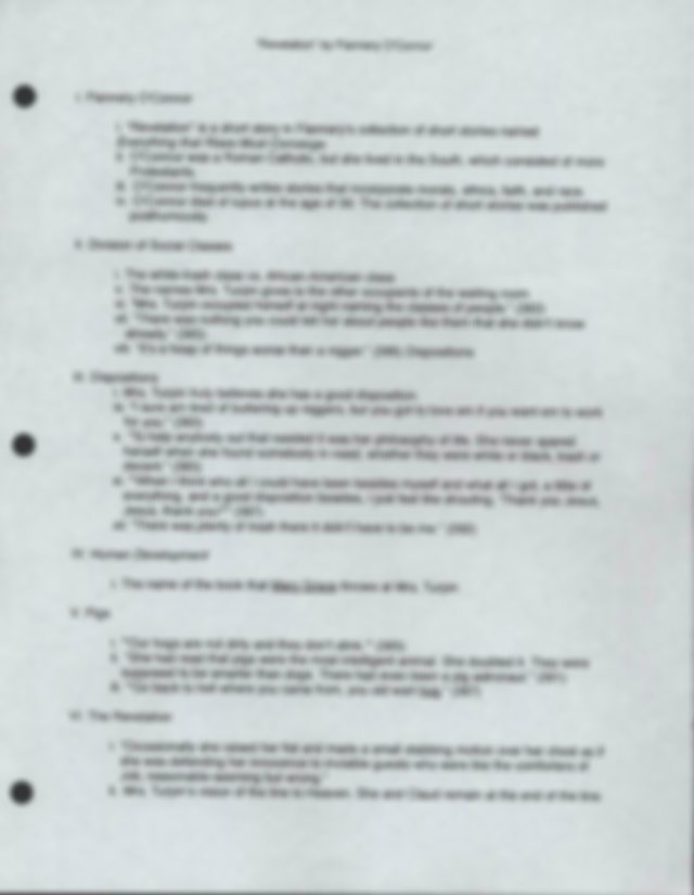 Format for Writing a Report