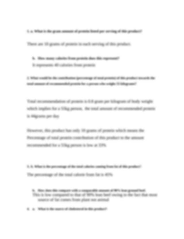 Assignment 6-1.doc - Worksheet 6-1 Label AnalysisProtein ...