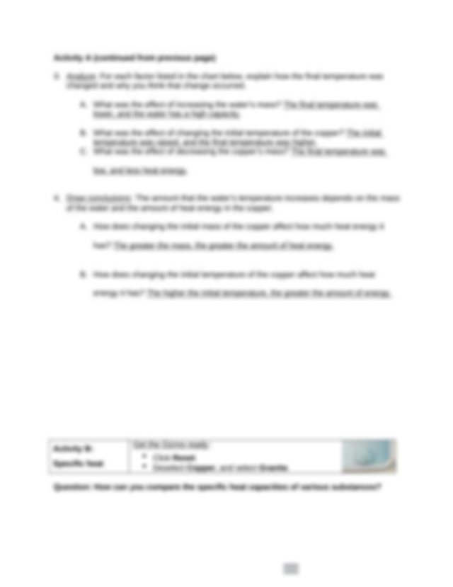 Bakari Emeri Calorimetry Gizmo Lab Sheet.docx - Name ...
