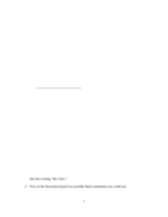 Personal perspective essay