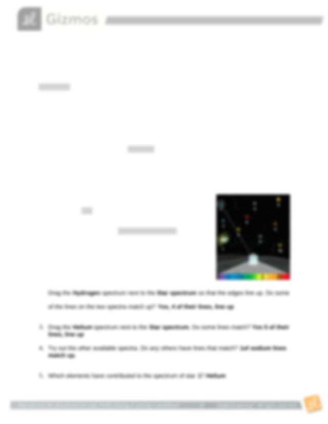 Star Emission Spectra Answer sheet.docx - Name Shakira ...