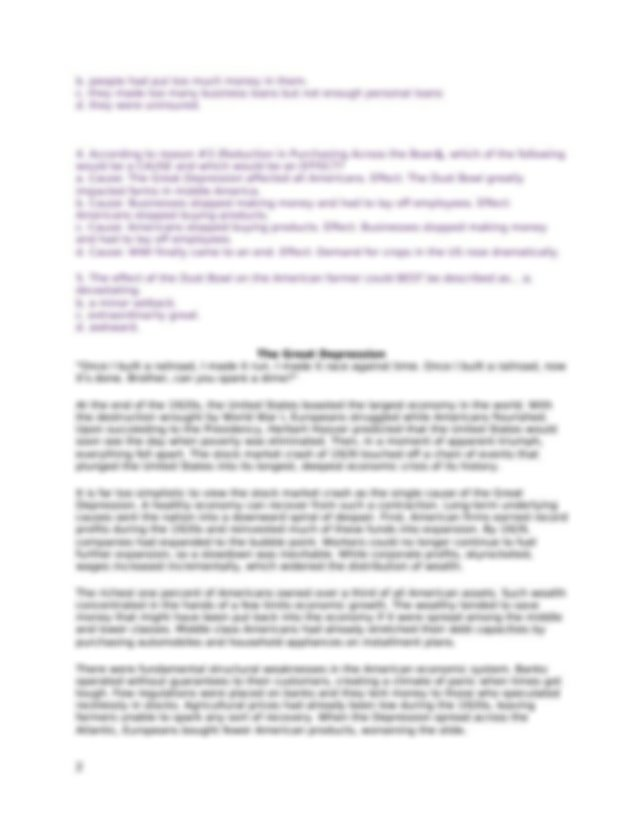 5+Causes+of+The+Great+Depression (1).docx - 5 Causes of ...  Installment Plan Great Depression