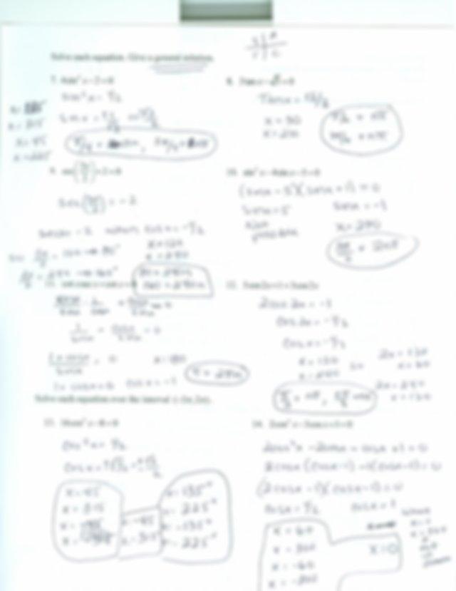 trig ws ans keys.pdf - 5.3 Solving Trig Equations ...