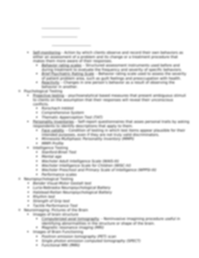 Chapter 3 - Chapter 3 Clinical Assessment and Diagnosis ...