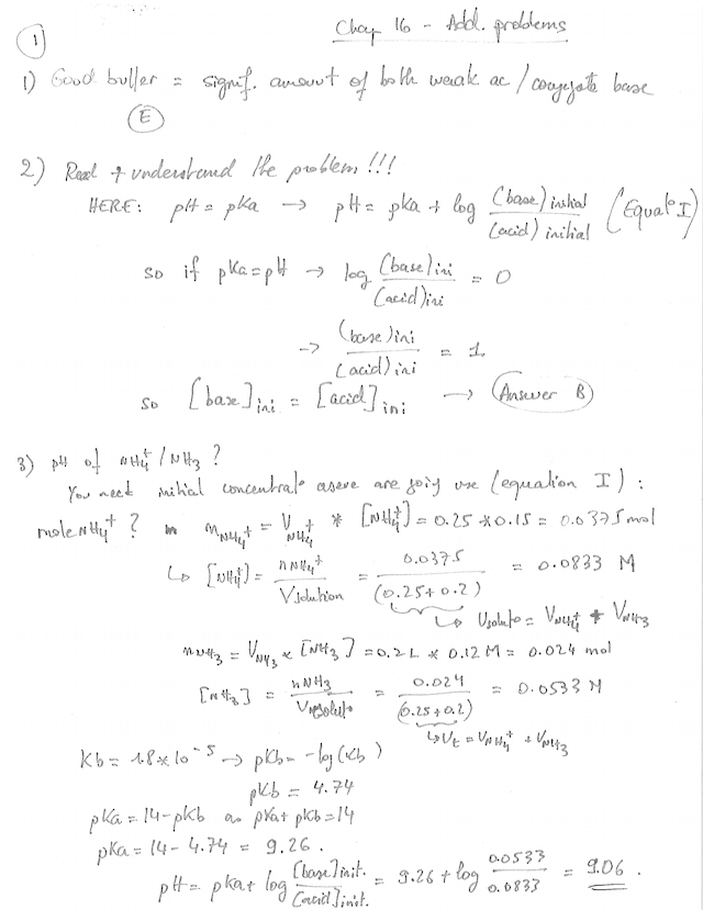 Chapter 16 Additional Practice Problems Answers  1