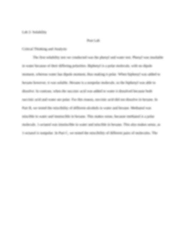 Organic 1 Lab Midterm Flashcards | Quizlet