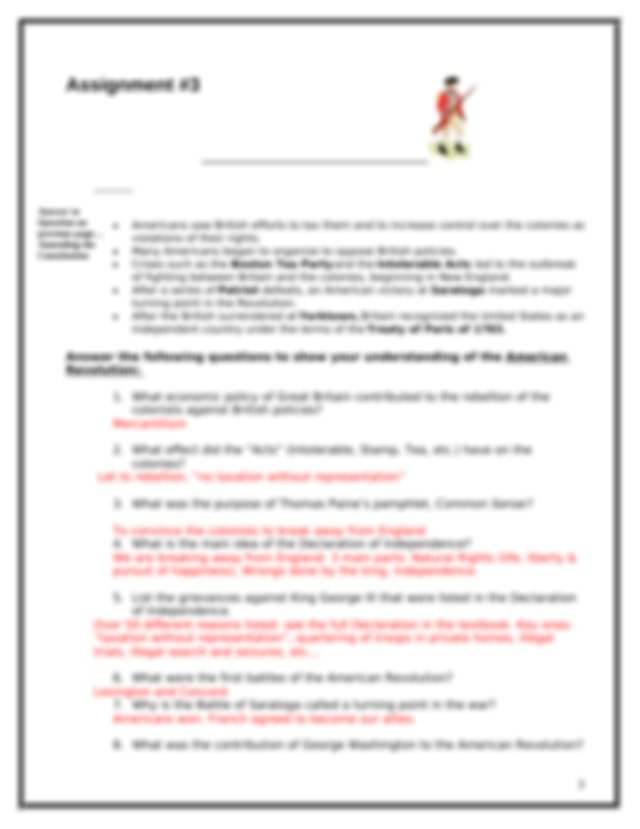 staar_study_packet_answers - 8th Grade U.S History STAAR ...