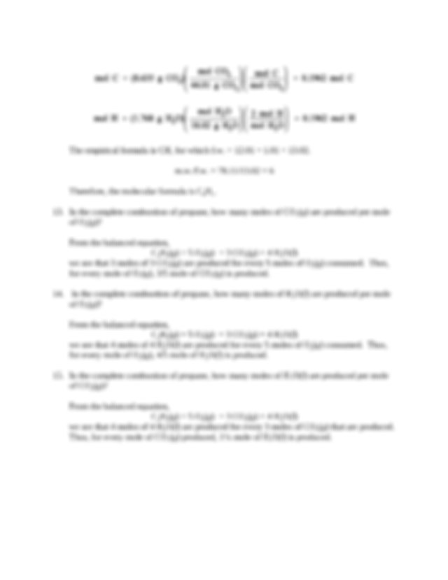 Chem 115 POGIL Worksheet   Week 4 Moles & Stoichiometry ...