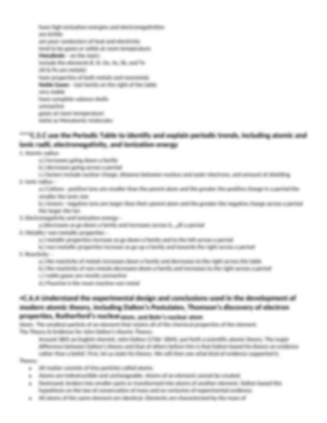 STAAR Chemistry Review 2013 Answer Key Cole - STAAR ...