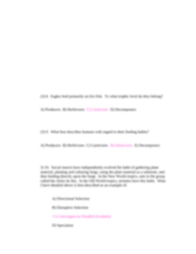 Sample Exam 1-1 - Biology 307 Introduction through ...