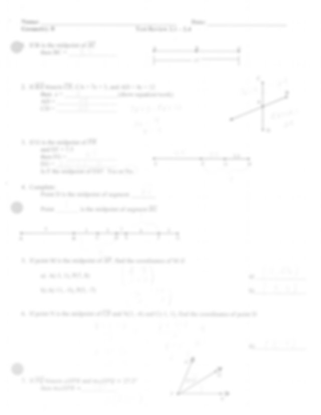 test review answer key - Name Date Geometry B Test Review ...