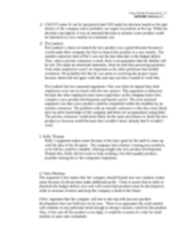 Critical Thinking Gen Assessment Case – Essay and gen