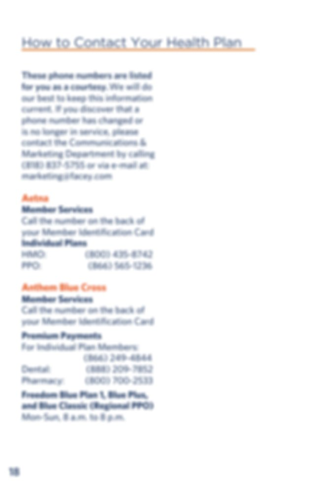 Phone 877 811 3107 Anthem Blue Cross continued Senior ...