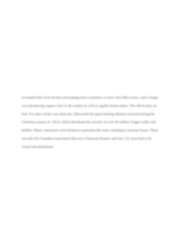MBA 599 Target Executive Summary - Executive Summary ...