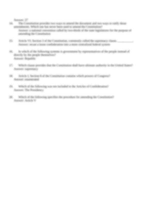 Quiz 2 Key - 1 As a check against majority tyranny under ...