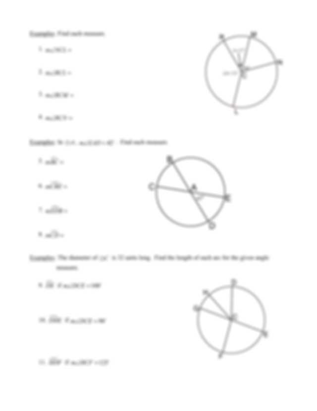 geo 10.2 - Name Date Period 10.2 Angles and Arcs Central ...