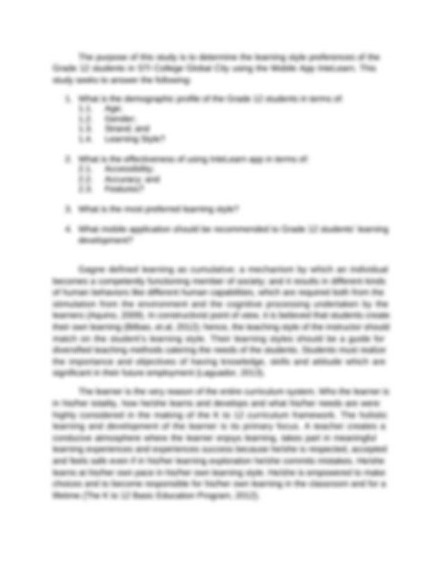 Essay about personal statement