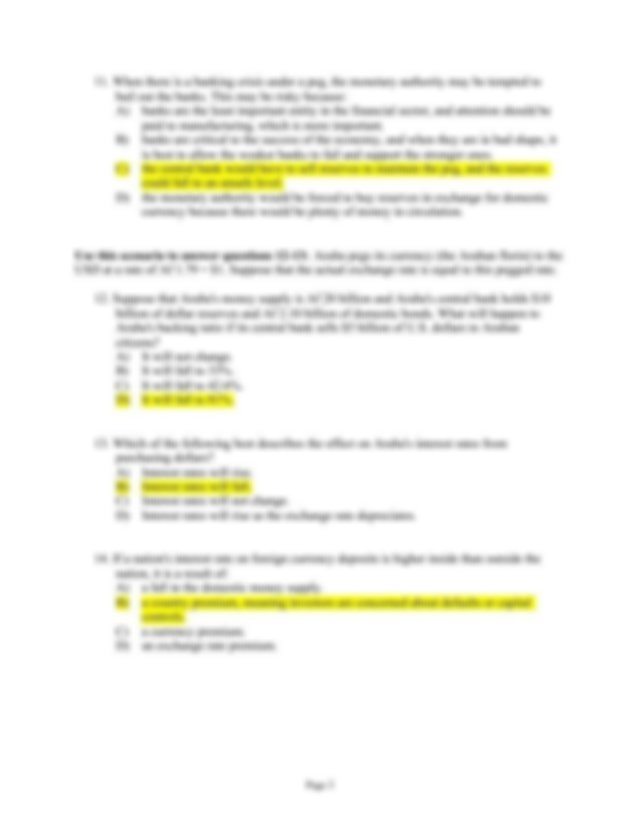 old exam answer key - Final Exam MGT 317 I Choose the best ...