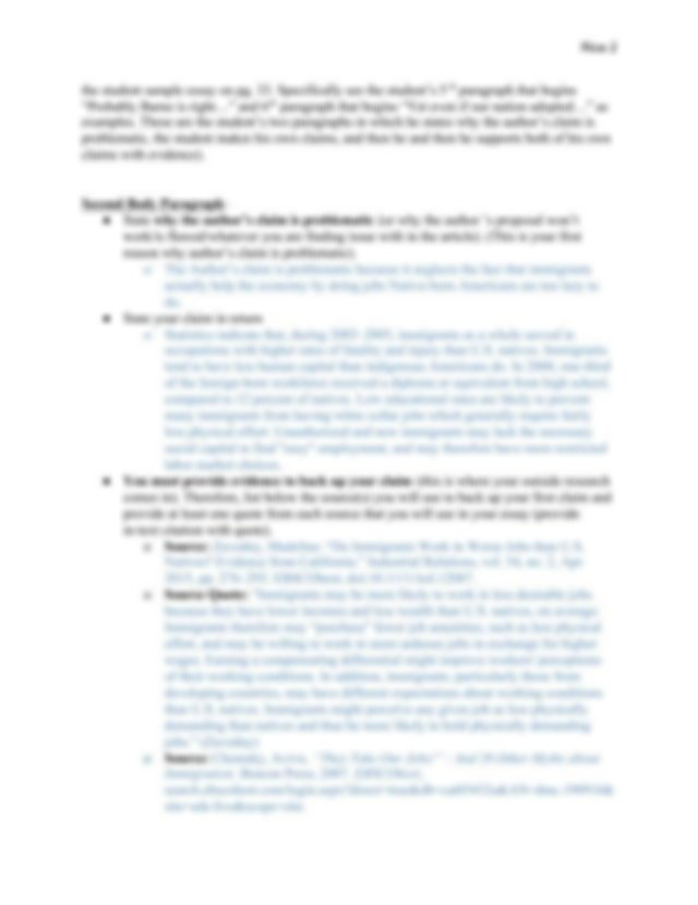 Thesis statement exercises for esl students